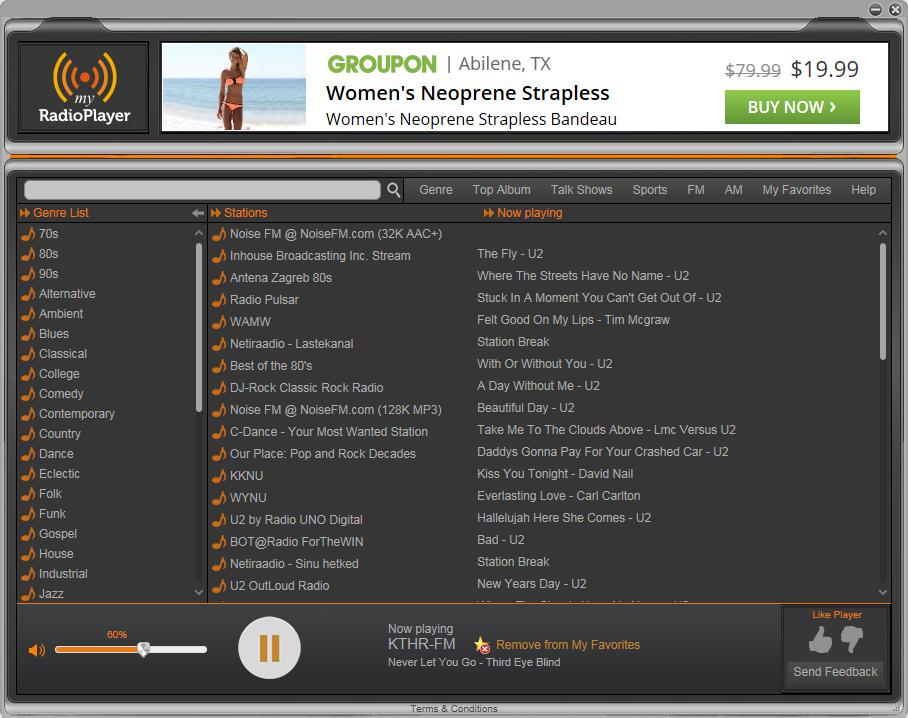 NetRadioPlayer screen shot